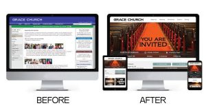 websites before and after